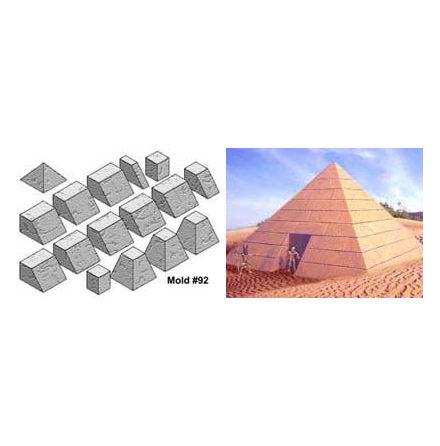 Sand blasted pyramid mold