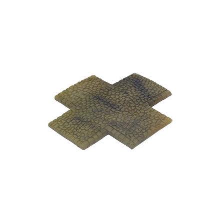 4 Way Intersection Cobblestone Sandstone (15 mm skala)