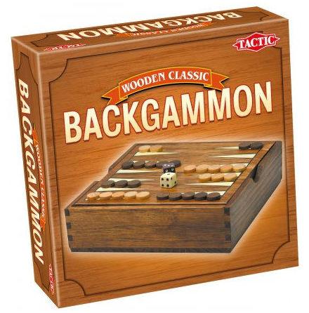 Backgammon i trä16x16 cm