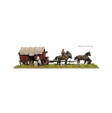 Covered supply wagon