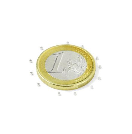Disc Magnet diameter 1 mm, höjd 1 mm (20st) Nickelpläterad 25g styrka