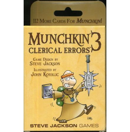 MUNCHKIN 3 - CLERICAL ERRORS (Expansion 112 kort)
