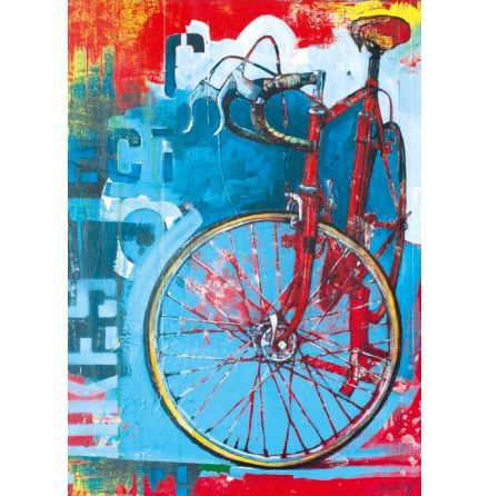 Bike Art, Red Limited 1000 pieces 48x68 cm