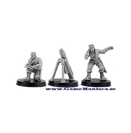 VIRIDIAN COMMANDO MORTAR TEAM set 1 (1 per förpackning)