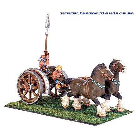 GAEL 2 HORSE CHARIOT AND CREW (1 set per förpackning)