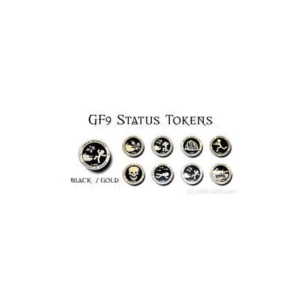 GF9 Status Token Set: Black/Gold