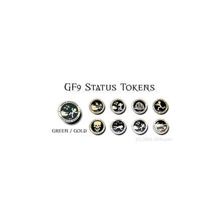GF9 Status Token Set: Green/Gold