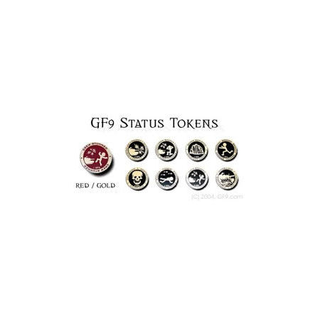 GF9 Status Token Set: Red/Gold