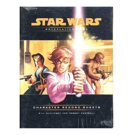 STAR WARS RPG: CHARACTER RECORD SHEETS (Äldre version - utgående)