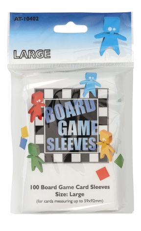 Board Game Sleeves CLEAR LARGE (59x92 mm) (100) (Arcane Tinmen)