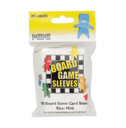 Board Game Sleeves CLEAR MINI (41x63 mm) (100) (Arcane Tinmen)