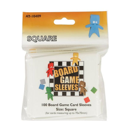 Board Game Sleeves CLEAR SQUARE (70x70 mm) (100) (Arcane Tinmen)