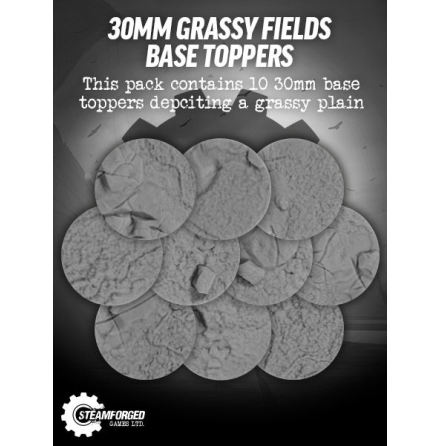 Guild Ball Grassy Fields Resin Base Toppers 30mm (10)