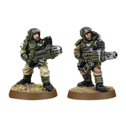 Imperial Guard Cadian with Plasma Gun and Meltagun