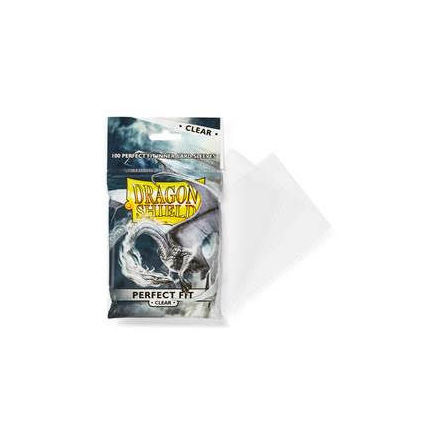 Dragon Shield Perfect Fit Sleeves - Clear/Clear (100)