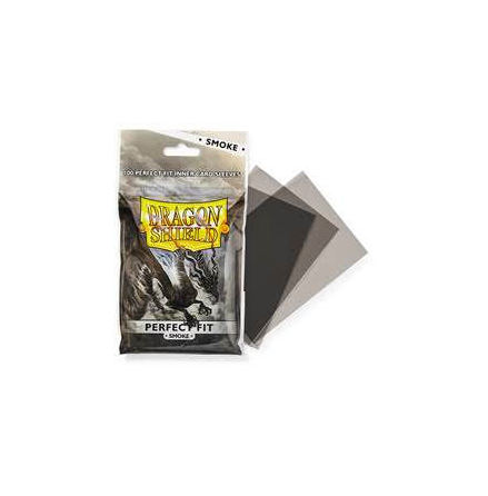 Dragon Shield Perfect Fit Sleeves - Smoke/Smoke (100)