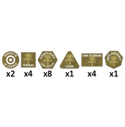 Afrika Korps Tokens (x 20)