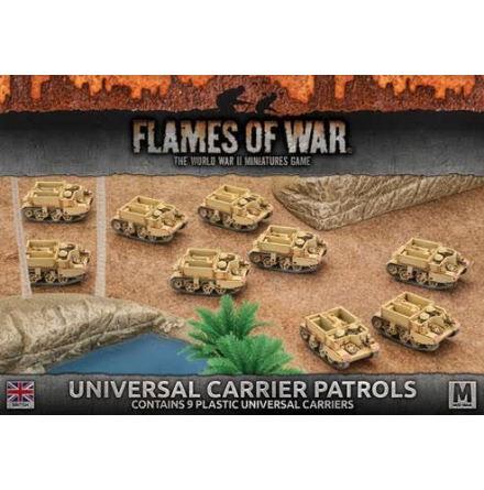 Desert Rats Universal Carrier Patrols (Plastic x 9)