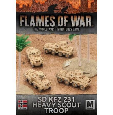 Afrika Korps Sd Kfz 231 Heavy Scout Troop (x 4)
