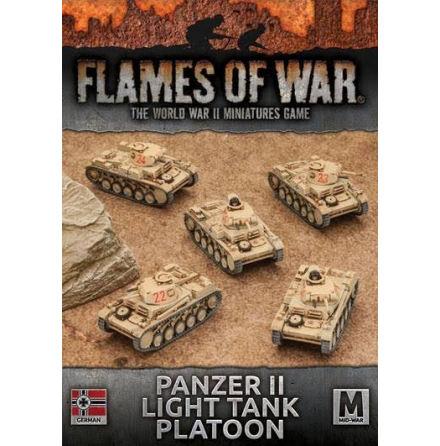 Afrika Korps Panzer II Light Tank Platoon (x 5)