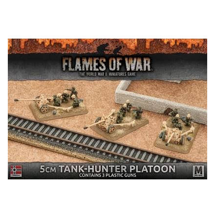 Afrika Korps 5cm Tank-Hunter Platoon (Plastic x 3)