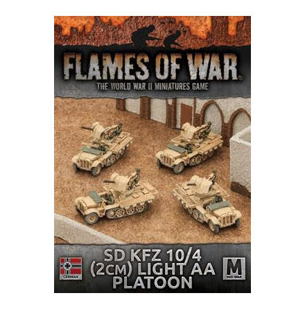 Afrika Korps Sd Kfz 10/4 (2cm) Light AA Platoon (x 4)