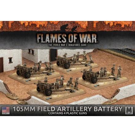 105mm Field Artillery Battery (4x Plastic)