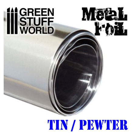 Flexible Metal Foil - TIN / PEWTER