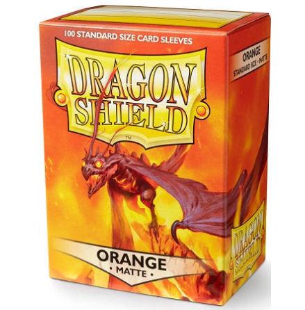 Dragon Shield MATTE Sleeves - ORANGE, Usaqin the One Who Knocks (100 ct.)