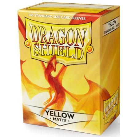 Dragon Shield Matte Sleeves - YELLOW, Elichaphaz the Light Bender (100 ct.)