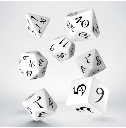 Classic RPG Dice Set White/Black (7)