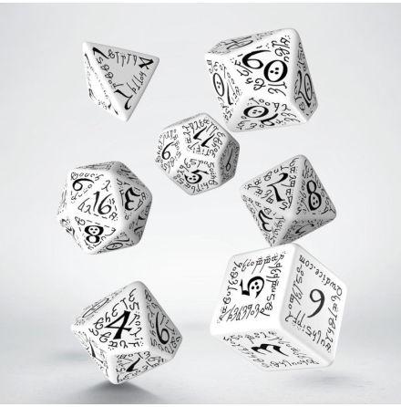 Elvish Dice Set White/Black (7)