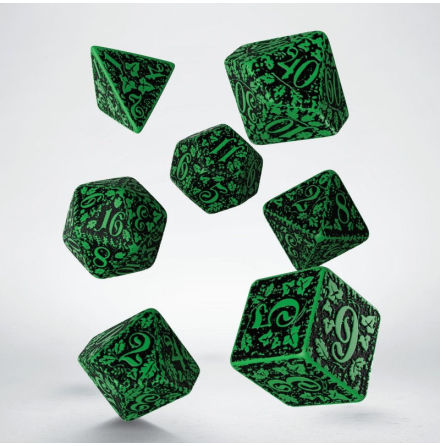 Forest Dice Set 3D Green/Black (7)