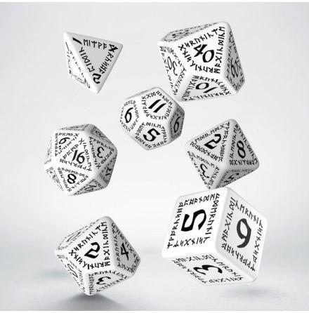 Runic Dice Set White/Black (7)