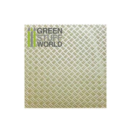 ABS Plasticard - Thread DOUBLE DIAMOND Textured Sheet - A4