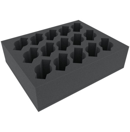 FSFR080BO 80 mm (3.15 inches) foam tray with 15 slots for Cavalry or Weapon Team