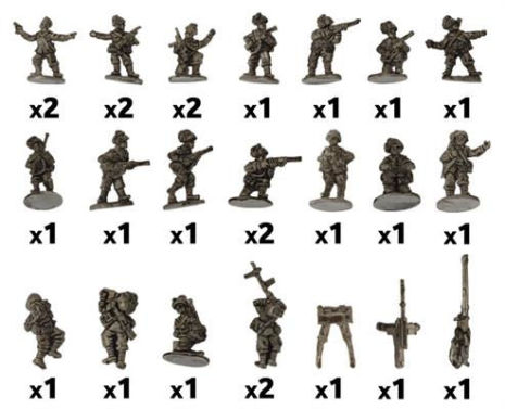 Bersaglieri Weapons Platoon  (24 Figs)