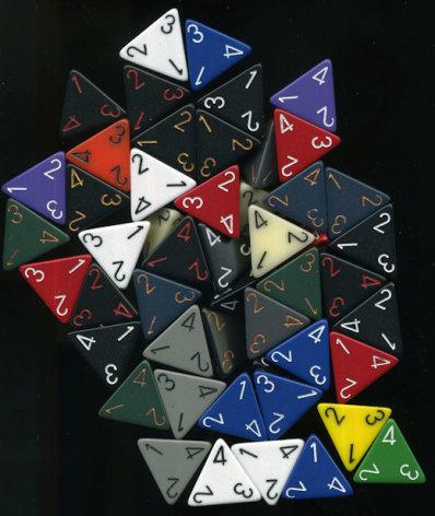 d4 random color (1 dice)