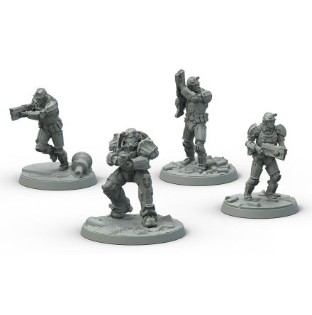 Fallout Wasteland Warfare BoS Frontline Knights