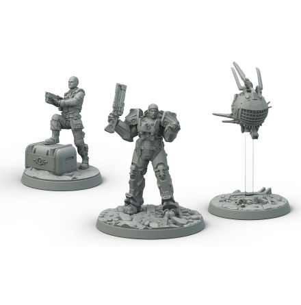 Fallout Wasteland Warfare BoS Steel Knight-Captain Cade