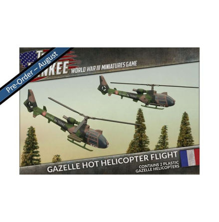 French Gazelle HOT Helicopter Flight