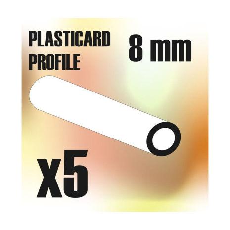 ABS Plasticard - Profile TUBE 8mm