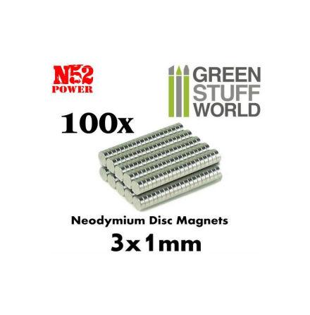 Neodymium Magnets 3x1mm - 100 units (N52)
