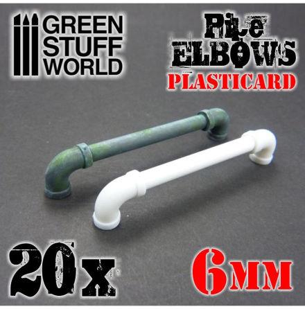 Plasticard Pipe ELBOWS 6mm