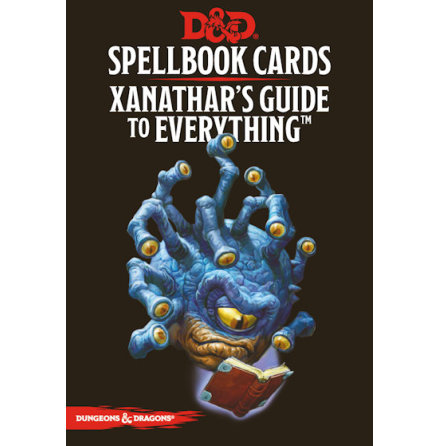 D&D 5th ed: Spellbook cards Xanathars Guide to Everything (95 Cards)