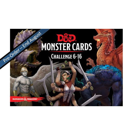 D&D 5th ed: Challenge 6-10 Monster Cards (74 cards)