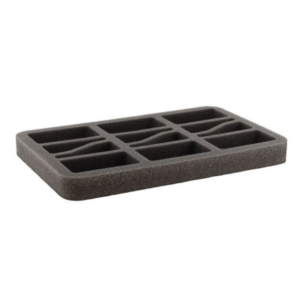 HS035BF03BO 35 mm (1.4 inch) half-size Figure Foam Tray with base