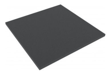 AFBA010 285 mm x 285 mm x 10 mm foam topper / layer