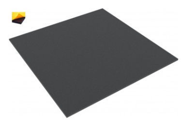 AGBA005BS 295 mm x 295 mm x 5 mm foam foam pad - self-adhesive