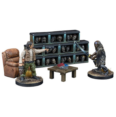THE WALKING DEAD: The Governors Trophy Room Collectors Resin Set (Begränsad ut